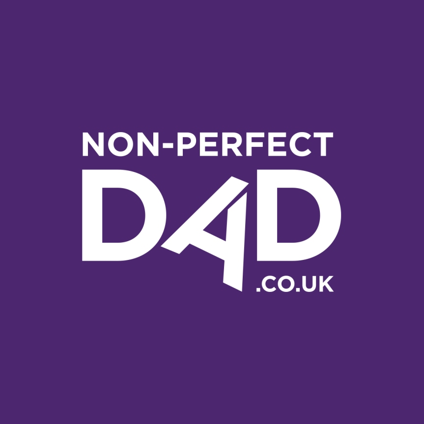 Non-Perfect Dad logo (Purple box)